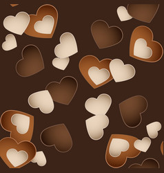 seamless chocolate pattern with sweetmeat in form vector image