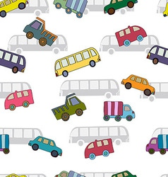 Seamless pattern with cars van vector