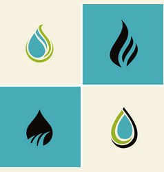 water drop abstract logos vector image