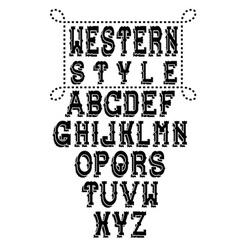 Western alphabet vector