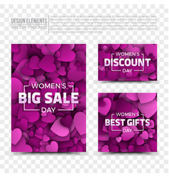 womens day design templates vector image