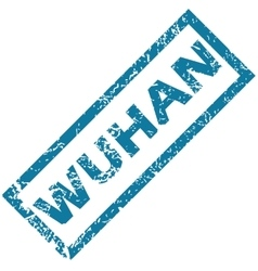 Wuhan rubber stamp vector image