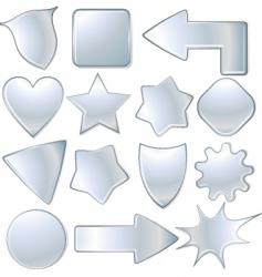 metal signs vector image