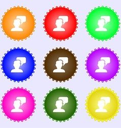 People talking icon sign big set of colorful vector
