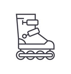 roller skates line icon sign vector image
