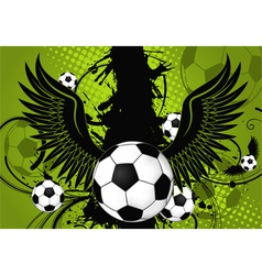 soccer background vector image