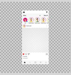 social network frame social post vector image
