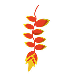 tropical flower plant icon vector image