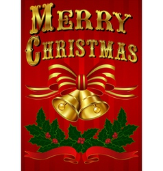 Vintage Christmas Card with hand drawn lettering vector image vector image