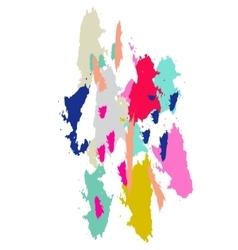 Acrylic paint brush stroke imitation vector