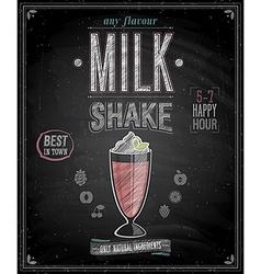 milkshake chalk vector image
