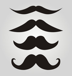 set of hipster mustache vector image vector image