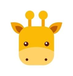cute giraffe animal icon vector image vector image