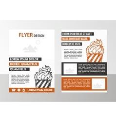 Flyer vector image vector image