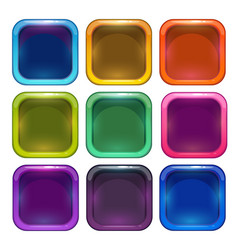 colorful glossy app icon frames vector image