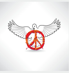 Peace symbol dove pacifism sign international vector