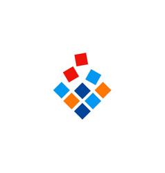 square data technology logo vector image