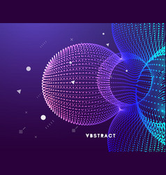 3d abstract molecular structure technology style vector image