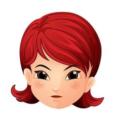A face of a girl vector image