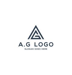 a g logo concept initial ag vector image