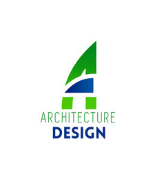 a letter icon for architecture design vector image