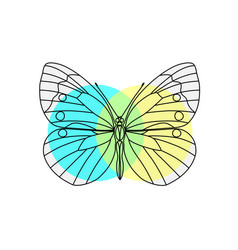 abstract polygonal butterfly vector image