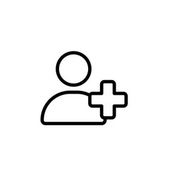 add user icon on white background vector image