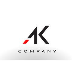 ak logo letter design vector image