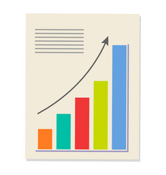 analytics and graphic page vector image