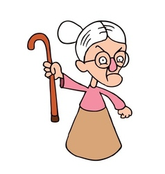 Angry grandmother character vector