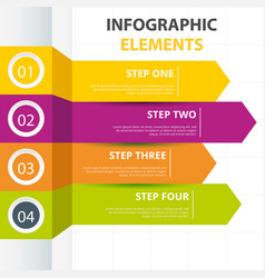 arrow infographic elements template four colors ve vector image