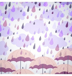 background with umbrellas and a rain vector image