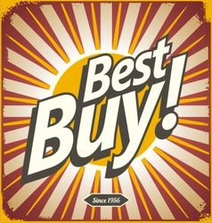 Best buy retro sign template vector image
