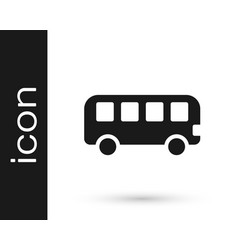 Black bus toy icon isolated on white background vector