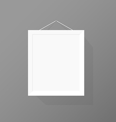 Blank picture frame on the wall vector
