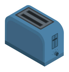 blue toaster icon isometric style vector image