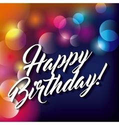 Blurred background Happy Birthday design vector