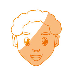 Boy face cartoon vector