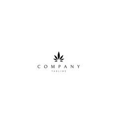 Cannabis leaf medical black logo design vector