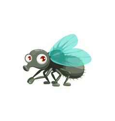 Cartoon fly wild flying creature icon vector