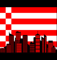 City and flag of bremen vector