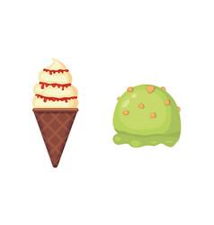Collection of cartoon ice cream vector