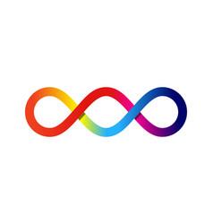 Color infinity logo icon design vector