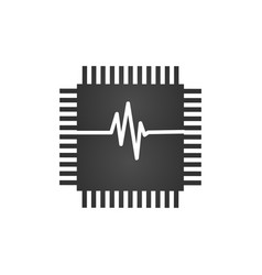 cpu central processing unit check computer chip vector image