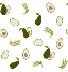 Cute avocado white pattern minimalist vector