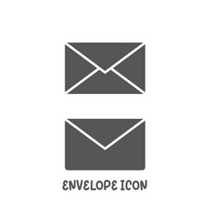 envelope icon simple flat style vector image