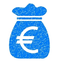 Euro Money Bag Grainy Texture Icon vector