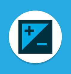 Exposure icon colored symbol premium quality vector