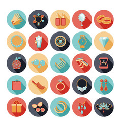 Fashion accessories flat icons vector image
