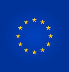 flag eu european union symbol europe stars in vector image